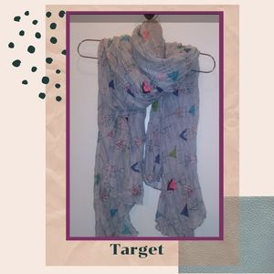 Target   Arrow/Triangle Pattern Crinkle Scarf